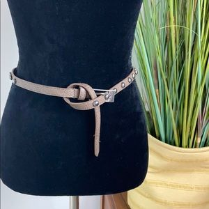 Thin brown belt for waist or hips
